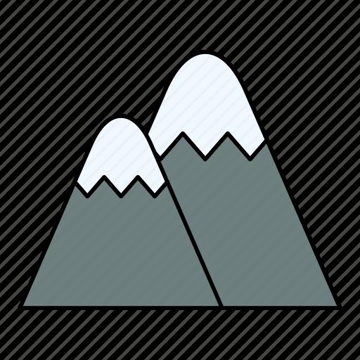 mountain, mountains, nature, ski, tourist, travel icon