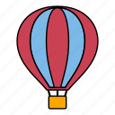 airballoon, balloon, flight, hot air balloon, sky, tourist, travel icon