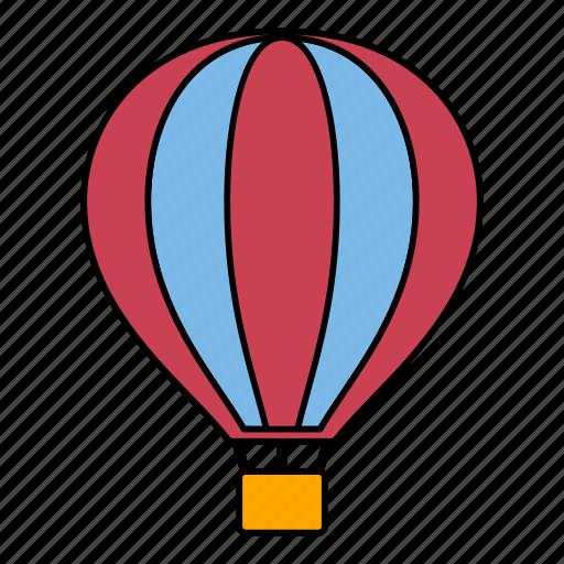 airballoon, balloon, flight, hot air balloon, sky, tourist, travel icon
