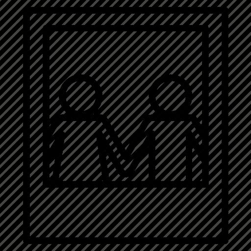 love, photo, polaroid, together icon