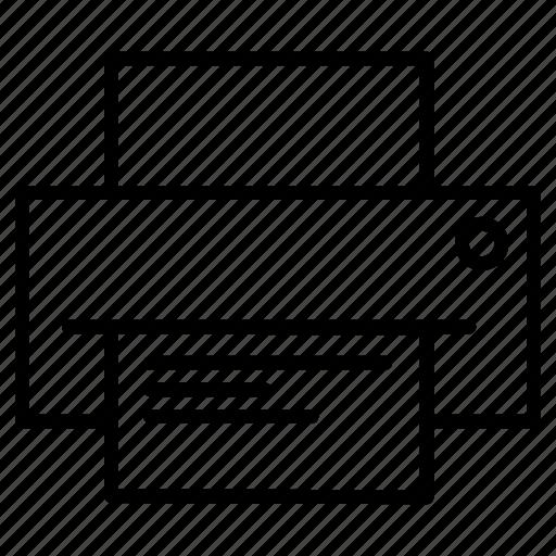 documents, paper, print, printer icon