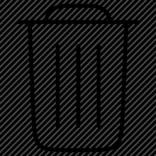 bin, rubbish, trash, waste icon