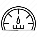 average, normal, pressure, speed icon