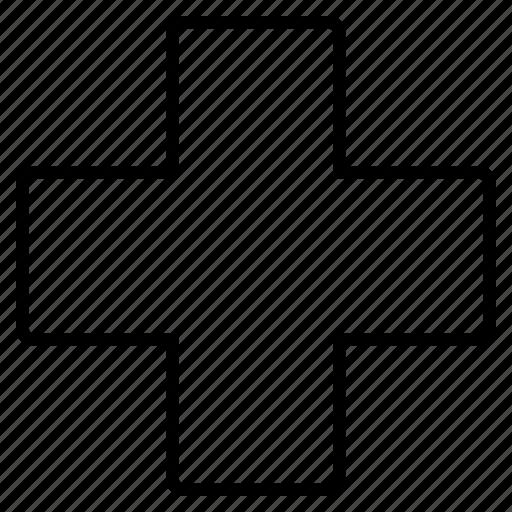 care, cross, error, hospital icon