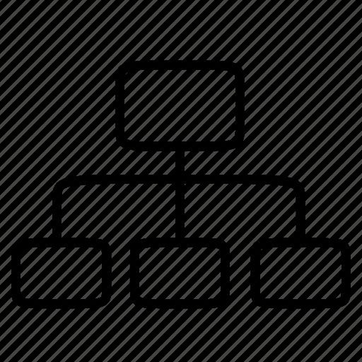 chart, office, organization, ranking, work icon