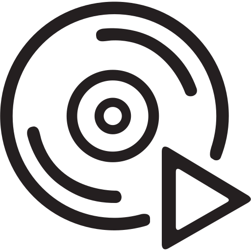 audio, dvd, media, music, play, player, video icon