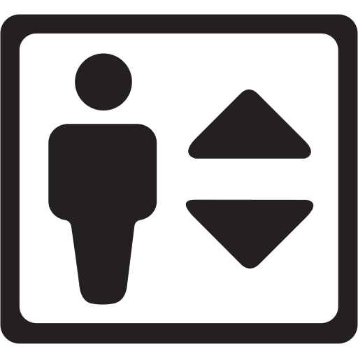 down, elevator, lift, move, up icon