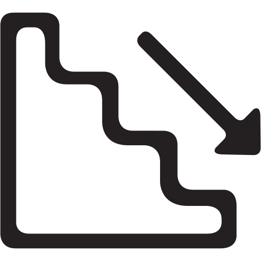 emergency, floor, staircase, stairs icon