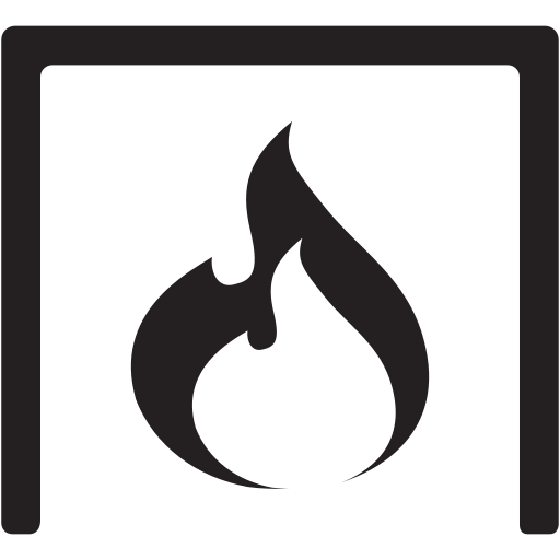 cozy, fire, flame, place icon