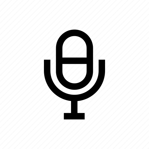 mic, microphone, record, voice, voice control icon