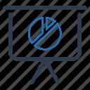analytics, board, business presentation, pie chart, presentation icon