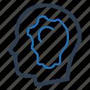 creative thinking, idea development, planning icon
