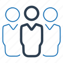 business group, leadership, teamwork, users icon