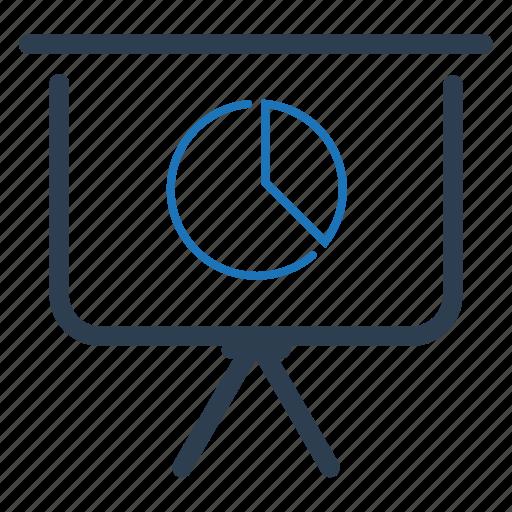 board, pie chart, presentation icon