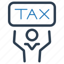 day, income, refund, return, tax icon