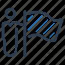 business, businessman, flag, goal, success icon