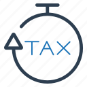 deadline, reminder, schedule, tax, tax return icon