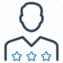 client rating, executive, star user icon
