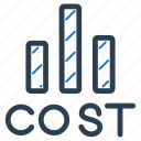cost, expenditure, expenses, statement icon