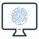 fingerprint, online, protection, security icon