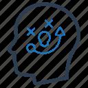 brainstorming, head, planning, strategic planning icon