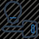 key to success, keyword development, solution key, support key icon