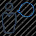 comment, speech, speech bubble, talk icon