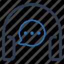 customer service, customer support, talk icon