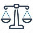 balance, justice, law icon
