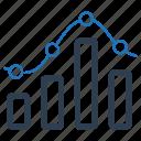 analytics, bar chart, infographic, report icon