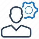 brainstorming, gear, strategy icon