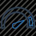 efficiency, productivity, speed, speedometer icon