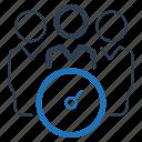 agenda, meeting, schedule, teamwork icon