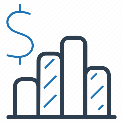 bar chart, financial report icon