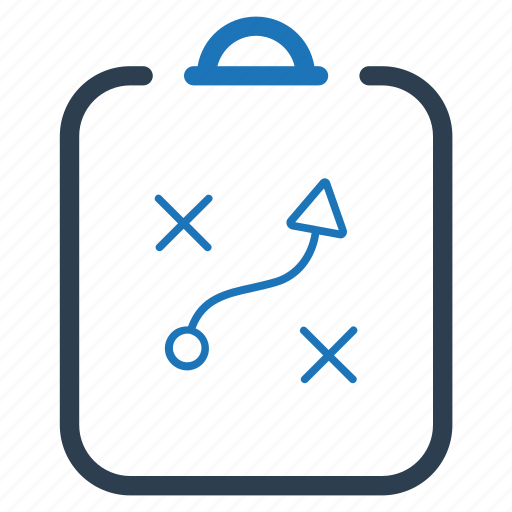 clipboard, planning, strategy icon