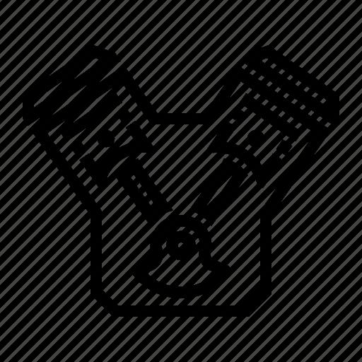car, engine, part, v, v engine icon