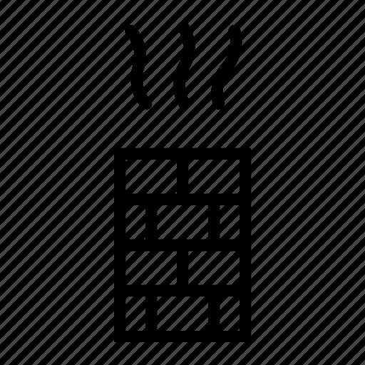 brick, chimney, smoke, steam, ventilation icon