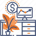 analyse, analyses, business, office, workplace icon