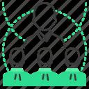 runion, chart, resources, statistics icon