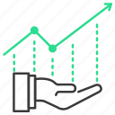 graph, growth, report, investment, take icon
