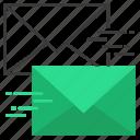 fast, mail, message, send, urgent icon