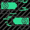 dollar, exchange, investment, money icon
