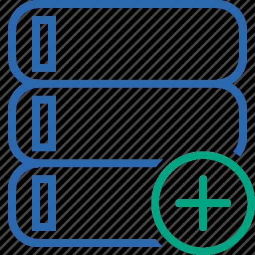 Add, data, database, server, storage icon - Download on Iconfinder