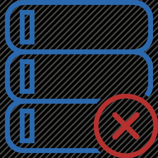Cancel, data, database, server, storage icon - Download on Iconfinder
