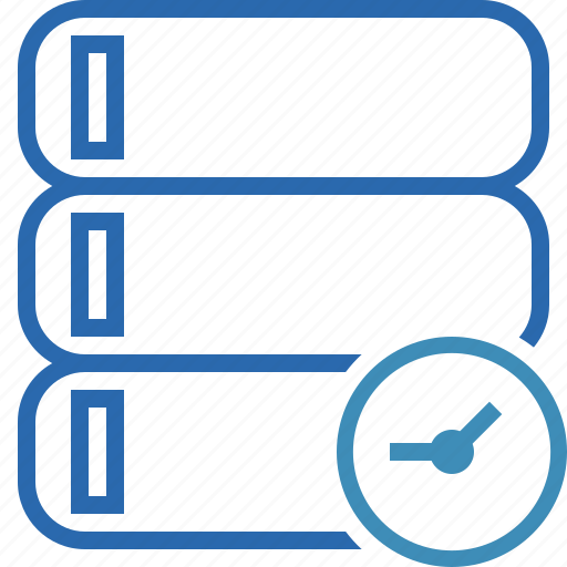 Clock, data, database, server, storage icon - Download on Iconfinder