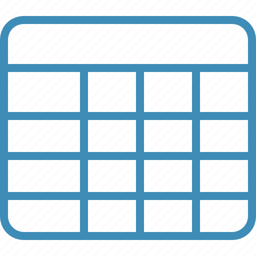 Cell, data, database, grid, row, table icon - Download on Iconfinder