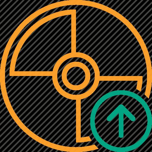 Cd, disc, disk, dvd, upload icon - Download on Iconfinder