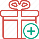add, box, christmas, gift, present, xmas
