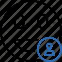 emoticon, emotion, face, laugh, smile, user