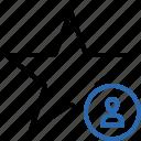 achievement, bookmark, favorite, rating, star, user